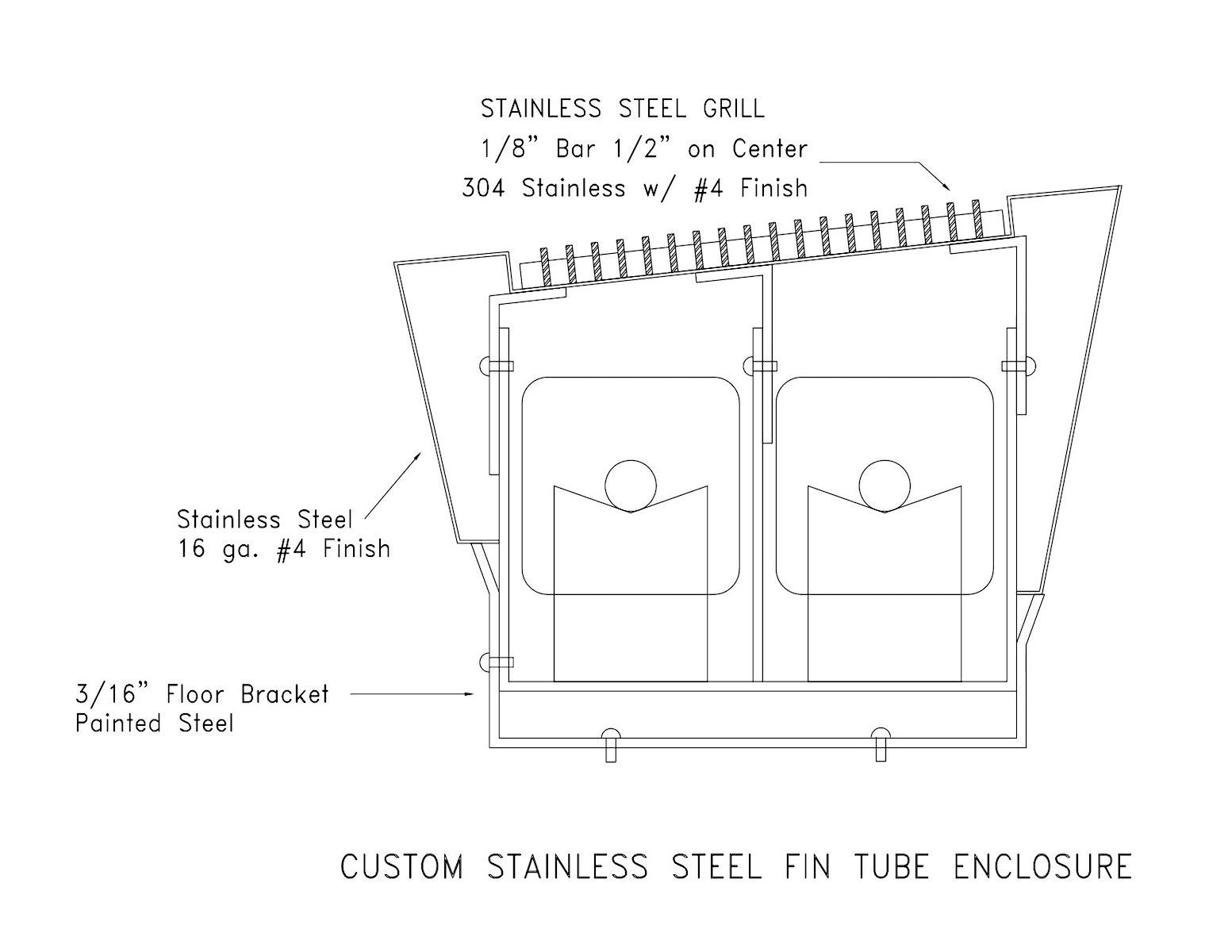 Custom Hydronic Fin Tube Radiation & Draft stop Enclosures |