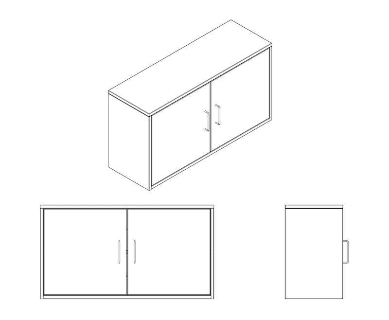 3WALL TALL CABINET MOCK ASSY DRAWINGS Model