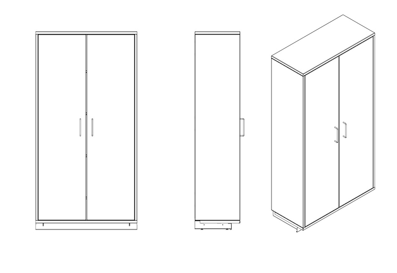 WALL TALL CABINET MOCK ASSY DRAWINGS Model